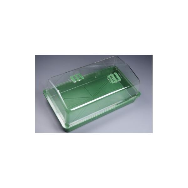 Skleník s ventilací tvrdý plast 56x31x22 cm