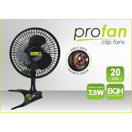 Ventilátor s klipsnou - PROFAN extratichý , 20cm, 7,5W