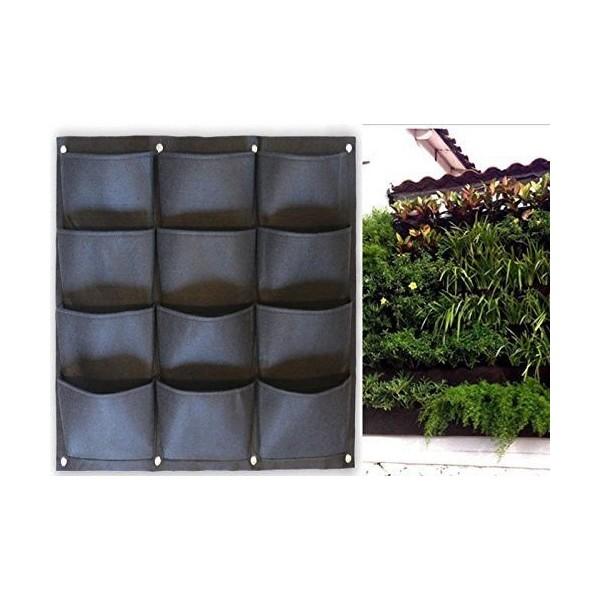 PROPot Wall 12 - textilní květníky na zeď 12 kapes
